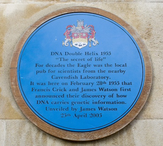 Cambridge DNA Crick and Watson