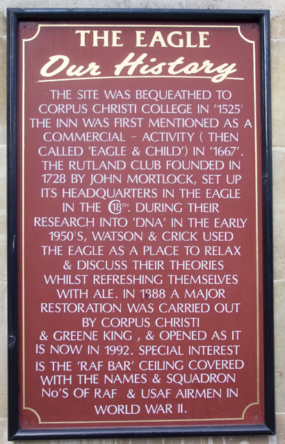 Cambridge The Eagle Crick and Watson DNA