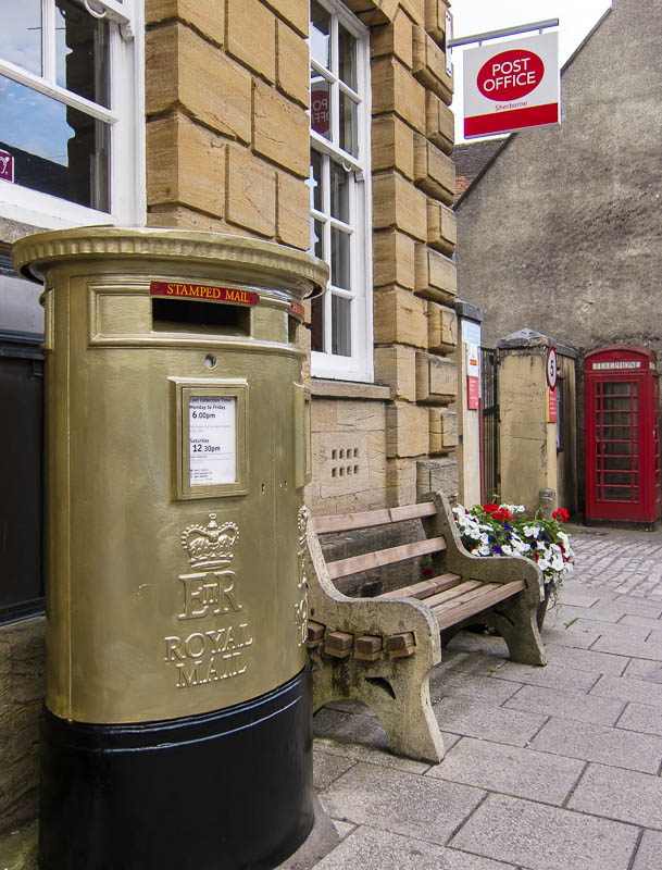 Sherborne Dorset Dorsetcamera Gold post box