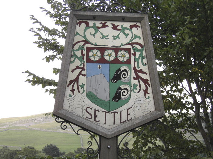 Settle Yorkshire Town Sign